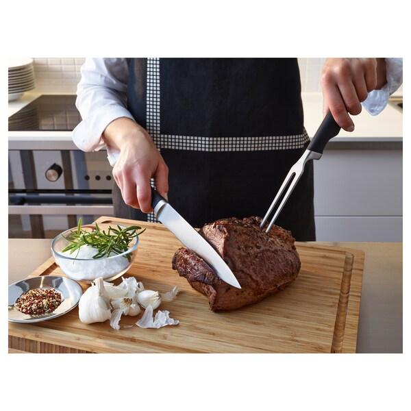 VÖRDA Carving knife and fork, black