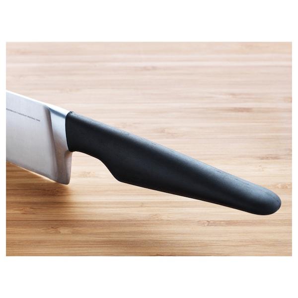"""VÖRDA Chef's knife, black, 8 """""""