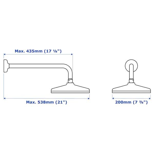 VOXNAN 1-spray showerhead with arm, chrome plated