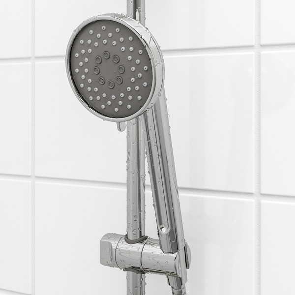 VOXNAN Riser rail with hand shower/outlet, chrome plated