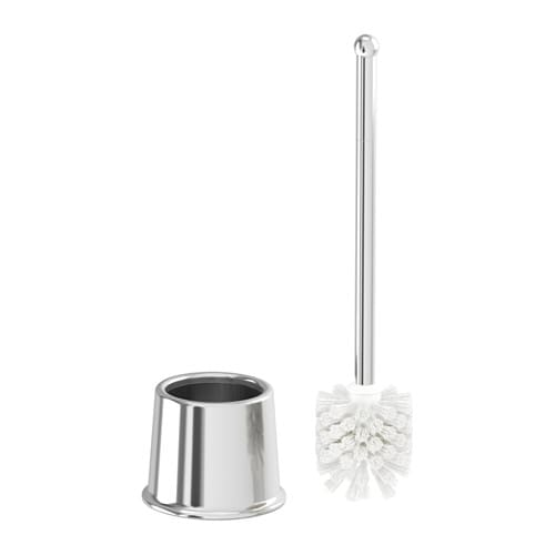 VOXNAN Toilet brush IKEA The chrome finish is durable and resistant to corrosion.
