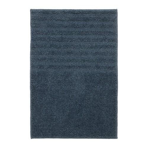 VOXSJÖN Bath mat, dark blue