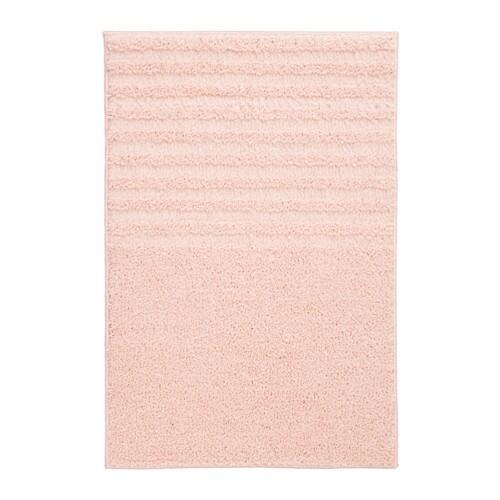 VOXSJÖN Bath mat, pale pink