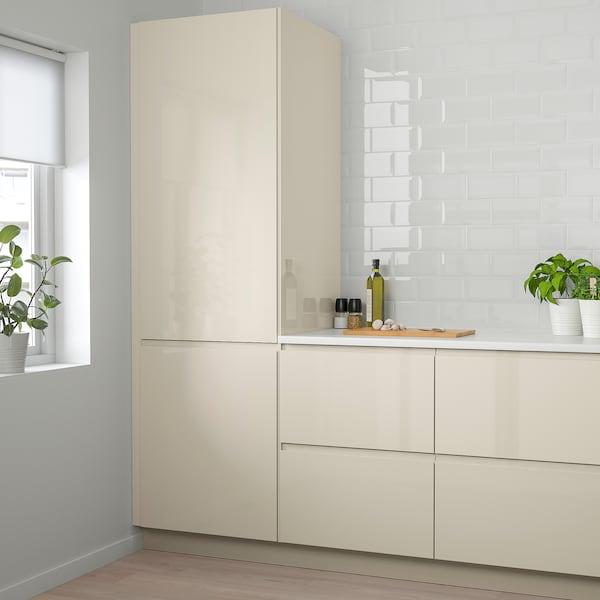 """VOXTORP Door, high gloss light beige, 24x50 """""""