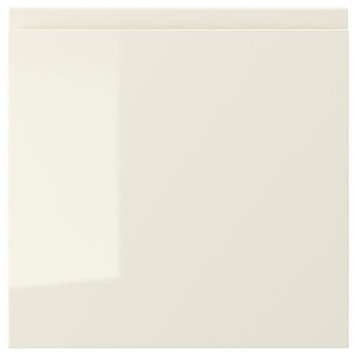"VOXTORP drawer front high gloss light beige 14 7/8 "" 15 "" 15 "" 14 7/8 "" 7/8 """