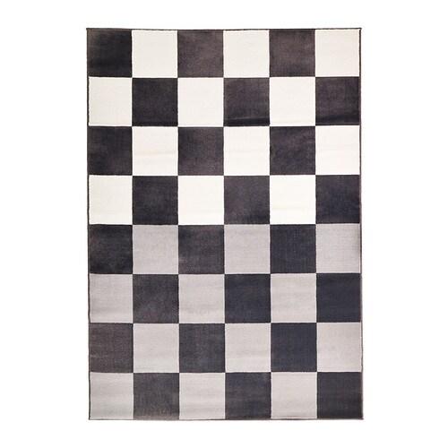 VRÅBY Rug, low pile, gray/white