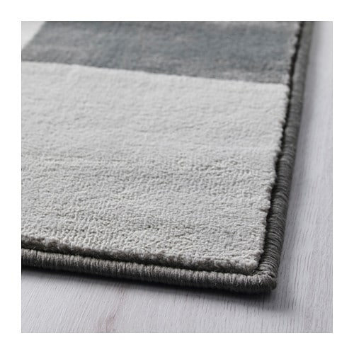 VRÅBY Rug, low pile IKEA Durable, stain resistant and easy to care for since the rug is made of synthetic fibers.