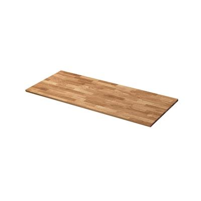 "VRENA Countertop, oak/veneer, 74x1 1/8 """