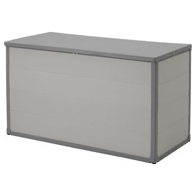 VRENEN Storage box, outdoor, light gray/gray