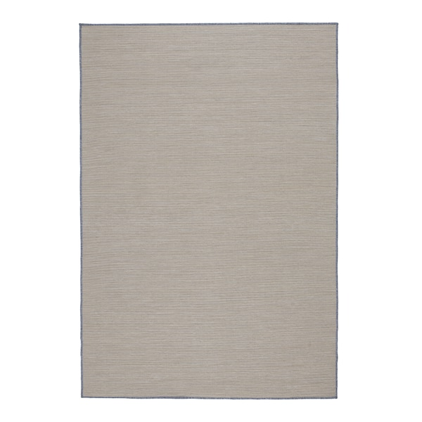 "VRENSTED Rug flatwoven, in/outdoor, beige/light blue, 4 ' 4 ""x6 ' 5 """