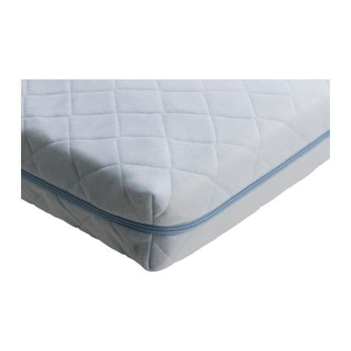 VYSSA VINKA Mattress for crib IKEA Bonnell springs provide great comfort and allows air circulation.