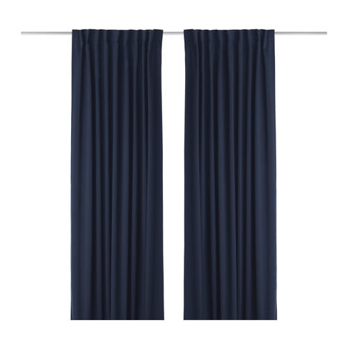 WERNA Curtains, 1 pair IKEA The curtains have a blackout function thanks to the densely-woven fabric.