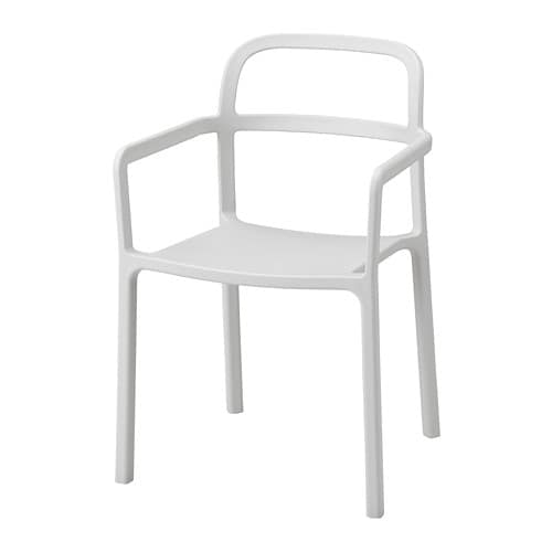 YPPERLIG Armchair, in/outdoor, light gray