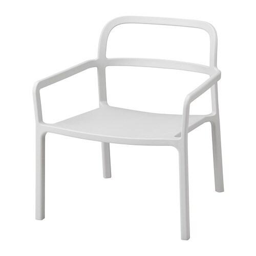 YPPERLIG Armchair, in/outdoor, light gray