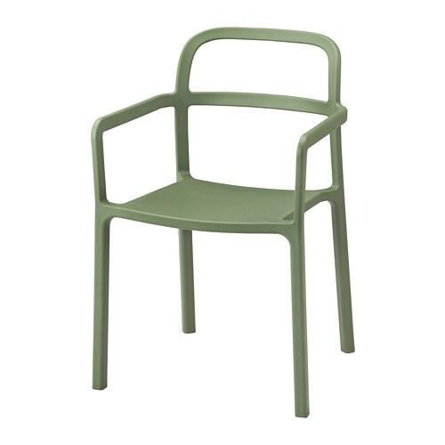 YPPERLIG Armchair, in/outdoor, green
