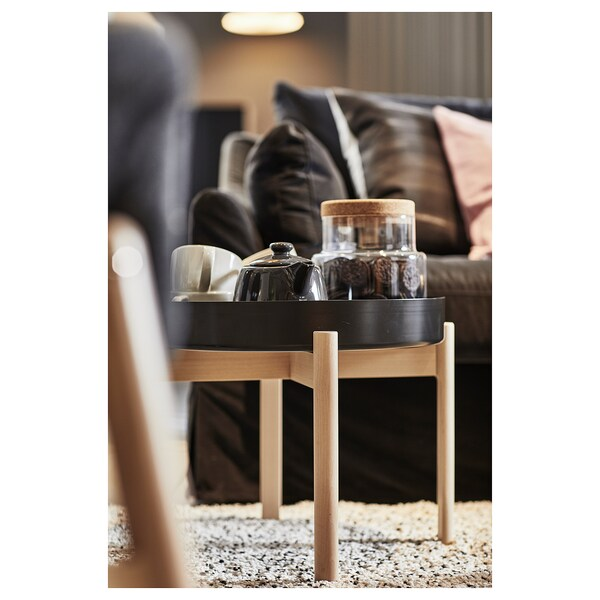 YPPERLIG Coffee table, dark gray/birch, 19 5/8 ""