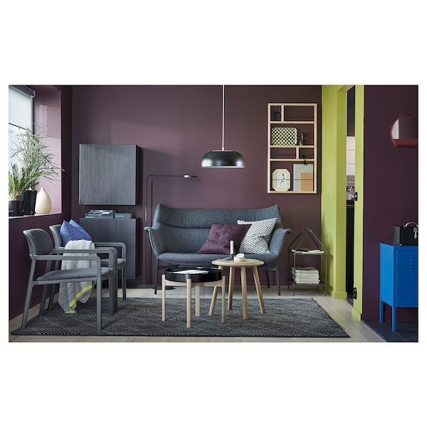 YPPERLIG LED floor lamp, dark gray