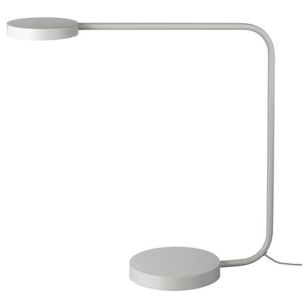 YPPERLIG LED table lamp, light gray