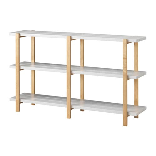 YPPERLIG Shelf unit, light gray, birch