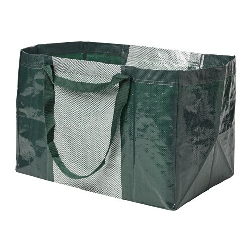YPPERLIG Shopping bag, large, green