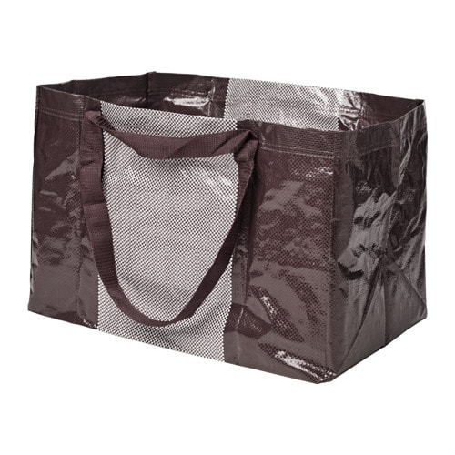 YPPERLIG Shopping bag, large, dark red