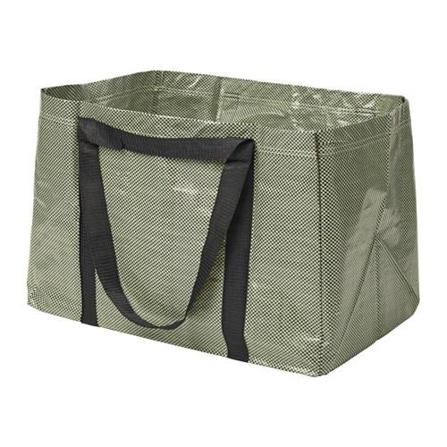 YPPERLIG Shopping bag, large, yellow, black