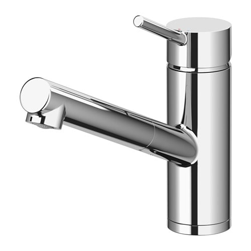 YTTRAN Kitchen faucet with pull-out spout, chrome plated chrome plated -