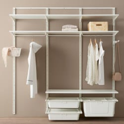 bedroom storage open clothes shoe storage system 250