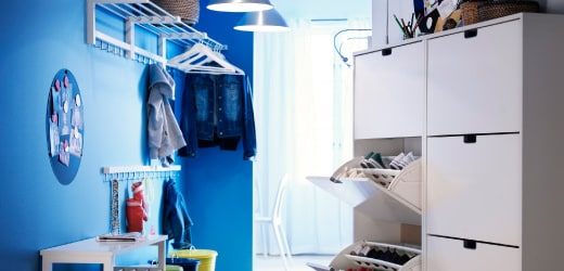 Go to clothes & shoe storage